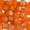 Seedbead Cornelian White Star 32/0 Orange